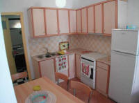 the Kitchen of one of the two appartments from the PVergos House accommodation in Parga